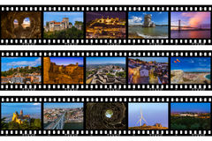 Frames of film - Portugal travel images & x28;my photos& x29;. Nature and architecture background Royalty Free Stock Photo
