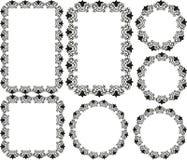 Frames florais Imagens de Stock