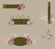 Frames florais Fotos de Stock Royalty Free