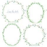 Frames florais ajustados Imagem de Stock