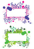 Frames florais de Grunge Fotos de Stock
