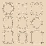 Frames florais decorativos Imagens de Stock Royalty Free