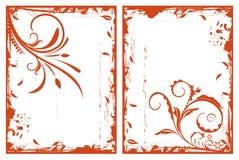 Frames florais do grunge do outono Fotos de Stock