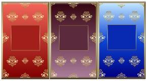 Frames florais do projeto Fotografia de Stock Royalty Free