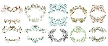 Frames florais do vintage Imagem de Stock