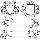 Frames with floral pattern royalty free illustration