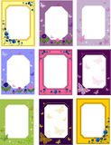Frames.flowers.butterflies Stock Images