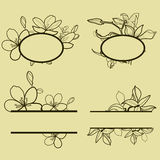 Frames with flowers Stock Photography
