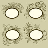 Frames with flowers Royalty Free Stock Photography