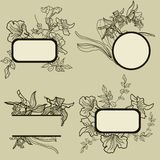 Frames with flowers Royalty Free Stock Image