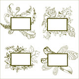Frames with flowers Royalty Free Stock Images