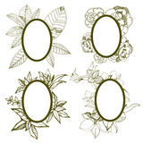 Frames with flowers Stock Image