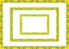 Frames geel van bloemen Royalty-vrije Stock Fotografie