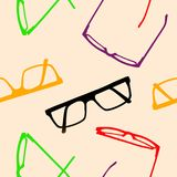 Seamless pattern. Multicolored glasses frames. Stock Images