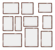 Frames glossy set Stock Images