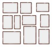Frames glossy set Stock Images