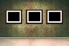 Frames in grungy room Royalty Free Stock Photos