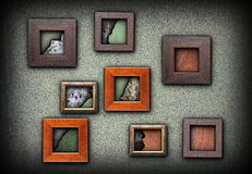 Frames with grungy textures Stock Photo
