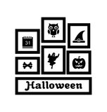 Frames with Halloween Traditional Symbols Stock Photo