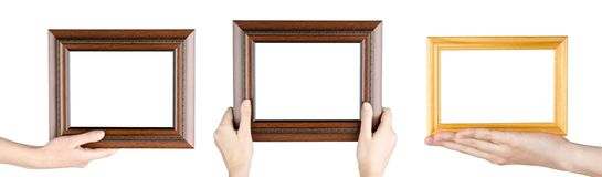 Frames in hand Stock Photos