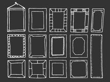 Frames Hand-Drawn Imagens de Stock Royalty Free