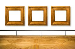 Frames hanging on white wall Royalty Free Stock Photography