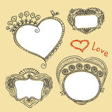 Frames heart shape Stock Images