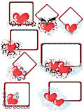 Frames with hearts, CMYK Royalty Free Stock Images