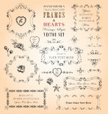 Frames & Hearts Vector Set Stock Photos