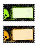 Frames industriais do vetor com crânio Imagens de Stock Royalty Free