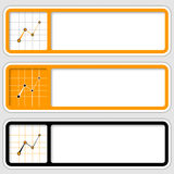 Frames for inserting text and graph Royalty Free Stock Photos