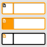 Frames for inserting text and note icon Royalty Free Stock Image