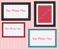 Frames interior colorfull Stock Images