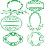 Frames with leaves and ornaments. Transparent frames with leaves and ornaments Royalty Free Stock Images