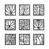 Frames with leaves texture. stock photos