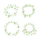 Frames with leaves. Vector set Stock Image