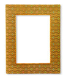 Frames made of woven fabric on white background Royalty Free Stock Image