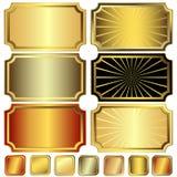 Frames metálicos da coleção   Foto de Stock Royalty Free