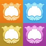 Frames met een kroon royalty-vrije illustratie
