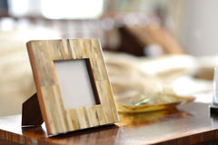 Frames. Natural horn picture frames in a bedroom setting Royalty Free Stock Photos