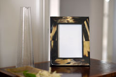 Frames. Natural horn picture frames in a bedroom setting Stock Photos