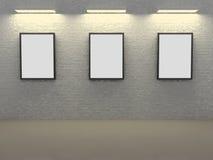 Frames op baksteen Royalty-vrije Stock Afbeelding