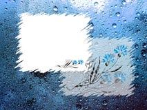 Frames op blauwe achtergrond Royalty-vrije Stock Foto's