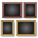 Frames op de muur. royalty-vrije illustratie