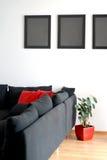 Frames op de muur Stock Afbeeldingen