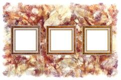 Frames op een abstracte kunst grunge achtergrond Stock Foto