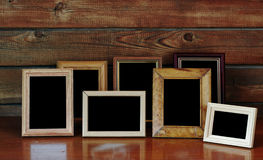 Frames op lijst Royalty-vrije Stock Fotografie