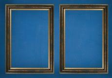 Frames op muur Stock Foto's