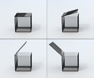 Frames opening glass box Stock Photo