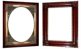 Frames ornamentado do ouro e da cereja Foto de Stock